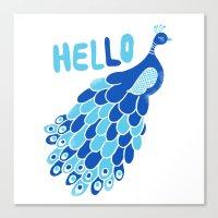 Hello, Peacock Canvas Print