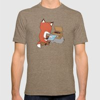 Record Player Mens Fitted Tee Tri-Coffee SMALL