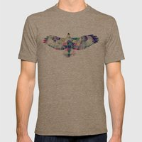 Hawk Mens Fitted Tee Tri-Coffee SMALL