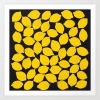 lemons 1 Art Print