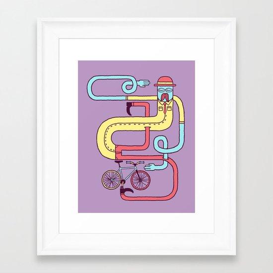 Go Riding Framed Art Print
