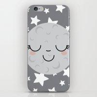 Moon Face iPhone & iPod Skin