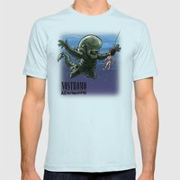Nirvana : Nevermind Mens Fitted Tee Light Blue SMALL