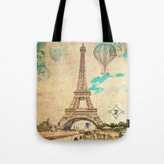 Vintage Eiffel Tower Paris Tote Bag