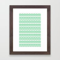 Green Waves Framed Art Print