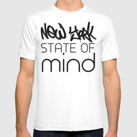 NY State Of Mind Mens Fitted Tee White SMALL