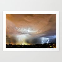Thundering Onward Art Print