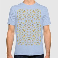 Ari's Gold Mens Fitted Tee Tri-Blue SMALL