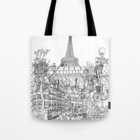 Paris! B&W Tote Bag