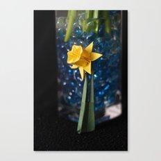 Lone Origami Daffadil Canvas Print