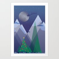 Christmas Night Alpine F… Art Print