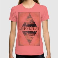 Air pollutant Womens Fitted Tee Pomegranate SMALL