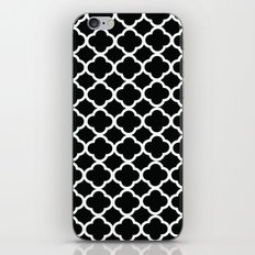 Black and White Graphic Flower iPhone & iPod Skin