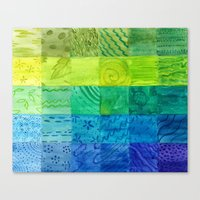 Bali Quilt Canvas Print