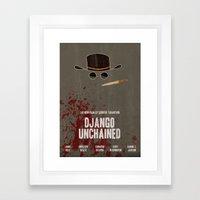 Django Unchained Movie P… Framed Art Print