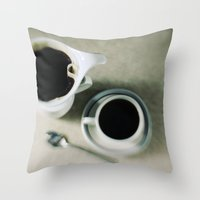 coffee.black Throw Pillow