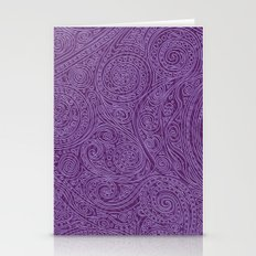 Pattern Spiral Amethyst … Stationery Cards