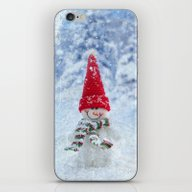 Red Cute Snowman Frozen … iPhone & iPod Skin