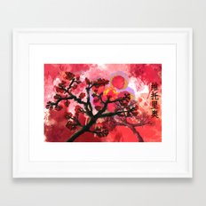 Trees in Chinese Art Framed Art Print