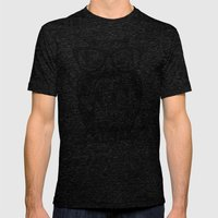 Spectacle Owl Mens Fitted Tee Tri-Black SMALL