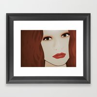 Red Head From Another Dr… Framed Art Print