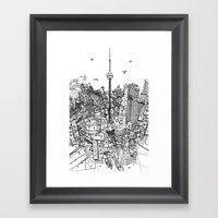 Toronto! (version #2) Framed Art Print