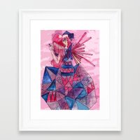 Queen of Sadness Framed Art Print
