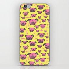 Pug Life  - Yellow and pink iPhone & iPod Skin