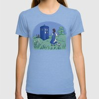 Adventure In The Great W… Womens Fitted Tee Tri-Blue SMALL