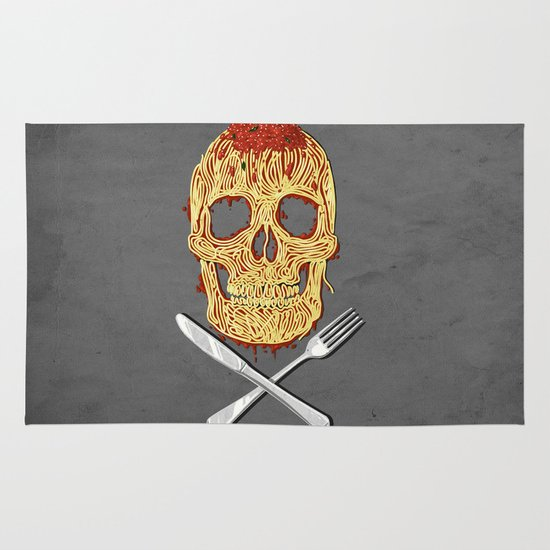 Spaghetti Skull Area & Throw Rug