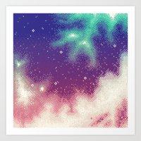 Rainbow Nebula (8bit) Art Print