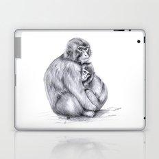 Snow monkey and baby Laptop & iPad Skin