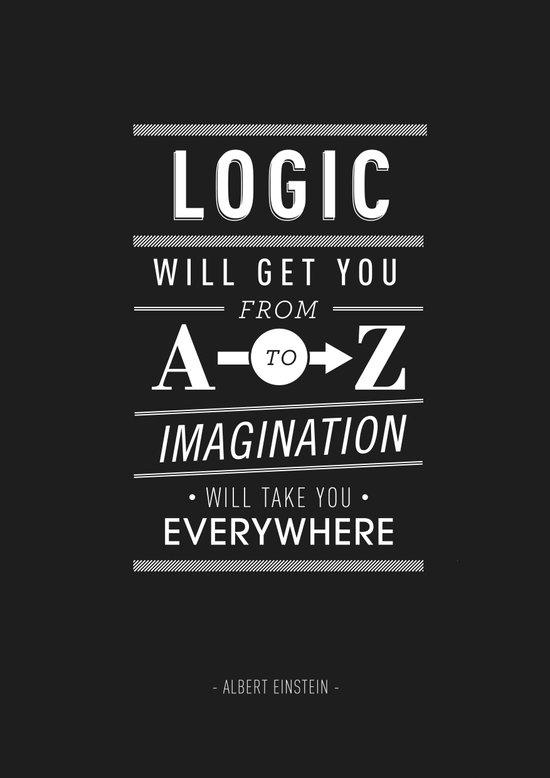 Type Poster - Albert Einstein Art Print