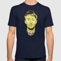 Thom Yorke Mens Fitted Tee Navy SMALL