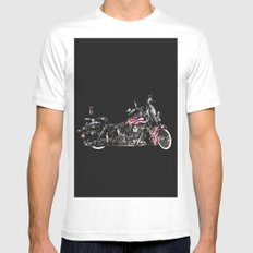 American Dream White Mens Fitted Tee SMALL