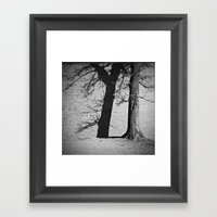 winter shadows . ii Framed Art Print
