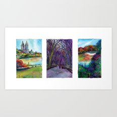 Central Park Trio Art Print