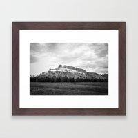 Mount Rundle In Banff Al… Framed Art Print