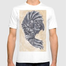 Neptune Octopus SMALL White Mens Fitted Tee