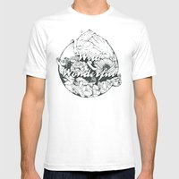 wild & wonderful Mens Fitted Tee White SMALL