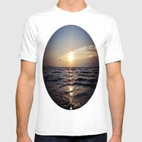 Sunset Glory Mens Fitted Tee White SMALL