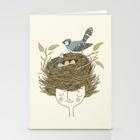 Bird Hair Day Stationery Cards