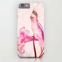 iPhone & iPod Case featuring Pink Cockatoo by TatiAbaurreDesigns