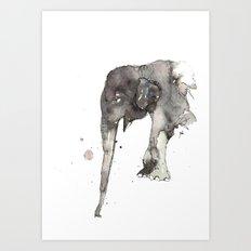 Elephant. Art Print