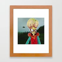 MARS ATTACKS LEADER Framed Art Print