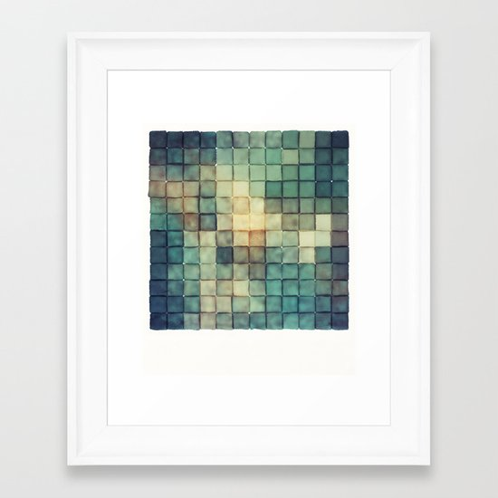 Polaroid Pixels III (Chain) Framed Art Print