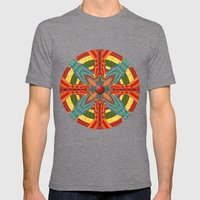 Thistle Pattern Mens Fitted Tee Tri-Grey SMALL