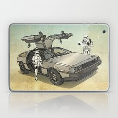 Lost, searching for the DeathStarr _ 2 Stormtrooopers in a DeLorean  Laptop & iPad Skin