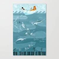 Life Of Pi (Fishing) Canvas Print