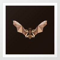 Brown PolyBat  Art Print